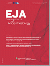 Poza European Journal of Anesthesiology
