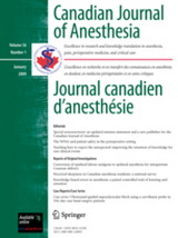 Poza Canadian Journal of Anaesthesia
